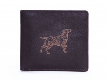 Retriever Engraved Brown Leather Wallet