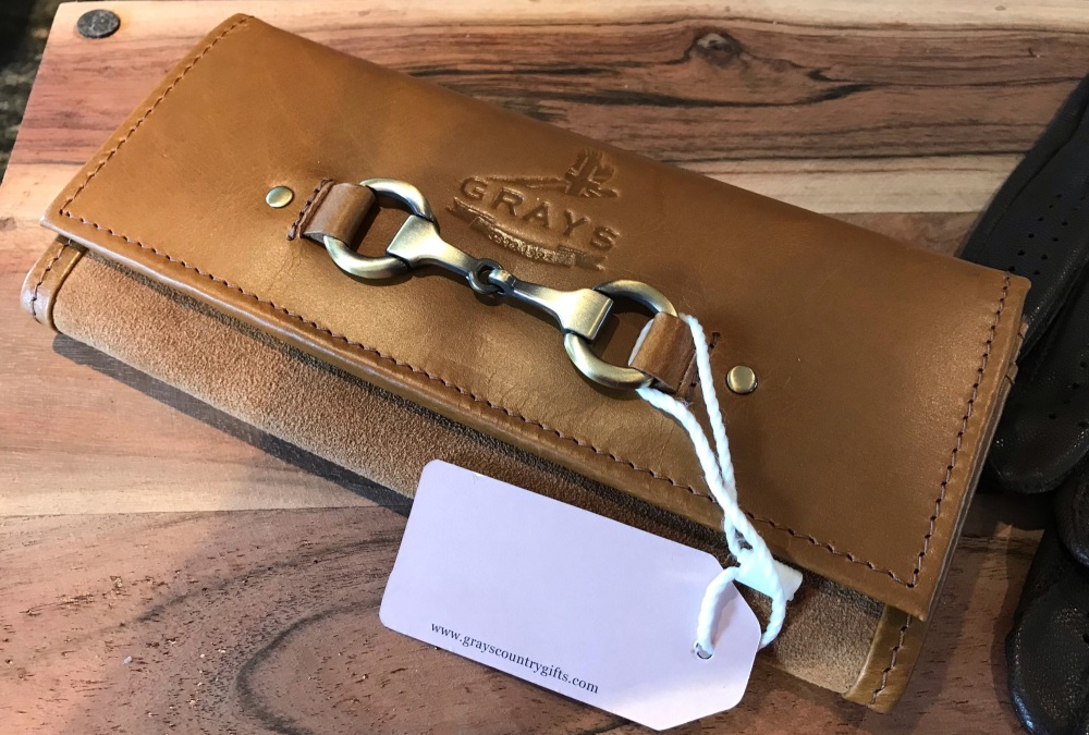 Lily Purse in Tan Leather and Suede