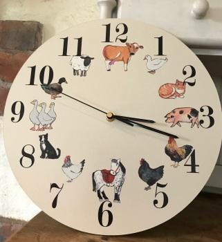 Farm Animals Clock