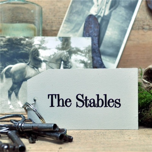 Wooden Key Ring: The Stables