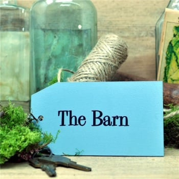 Wooden Key Ring: The Barn