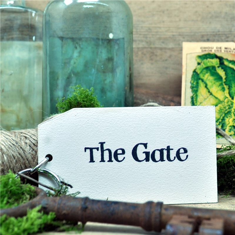 Wooden Key Ring: The Gate