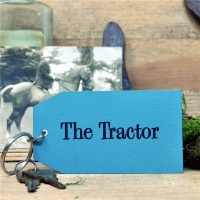Wooden Key Ring: The Tractor