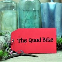 Wooden Key Ring: The Quad Bike