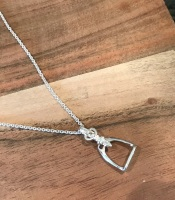 Sterling Silver Stirrup Pendant with Fine Trace Chain