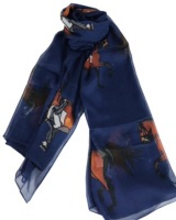 Navy Dressage Scarf