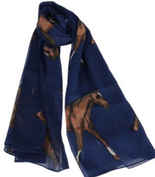 Navy Horse Scarf