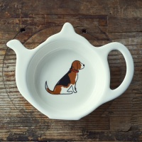 Gift Boxed Beagle Teabag Dish