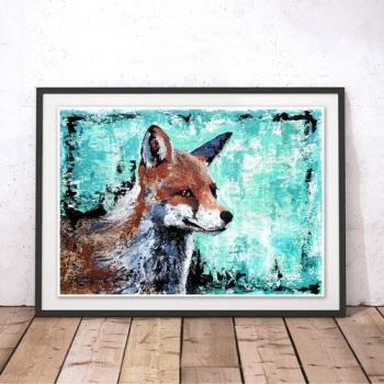 Mischief  Maker Fox Print