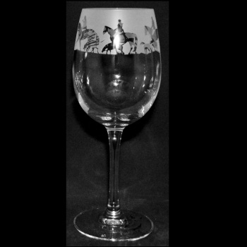 Hunting Wine Glass