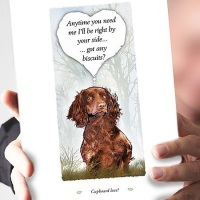 Cupboard Love Russet Cocker Spaniel Card