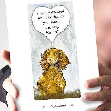 Cupboard Love Honey Cocker Spaniel Card