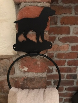 Working Spaniel Towel Ring