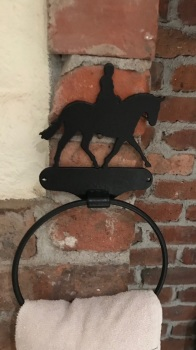 Riding Horse Towel Ring