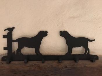 Labrador 6 Hook Key Rack