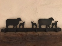 Sheep 6 Hook Key Rack