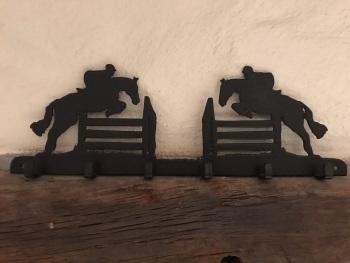 Jumping Horse 6 Hook Key Rack