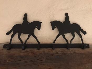 Riding Horse 6 Hook Key Rack