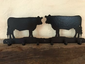 Cow 6 Hook Key Rack