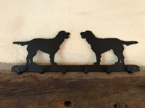 Spaniel (Full Tail) 6 Hook Key Rack