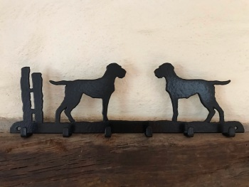 Hungarian Wire-haired Vizsla 6 Hook Key Rack