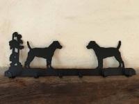 Patterdale Terrier 6 Hook Key Rack