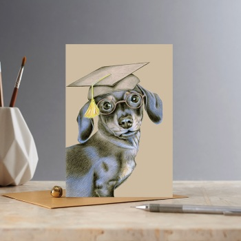 Clever Sausage Dachshund Card