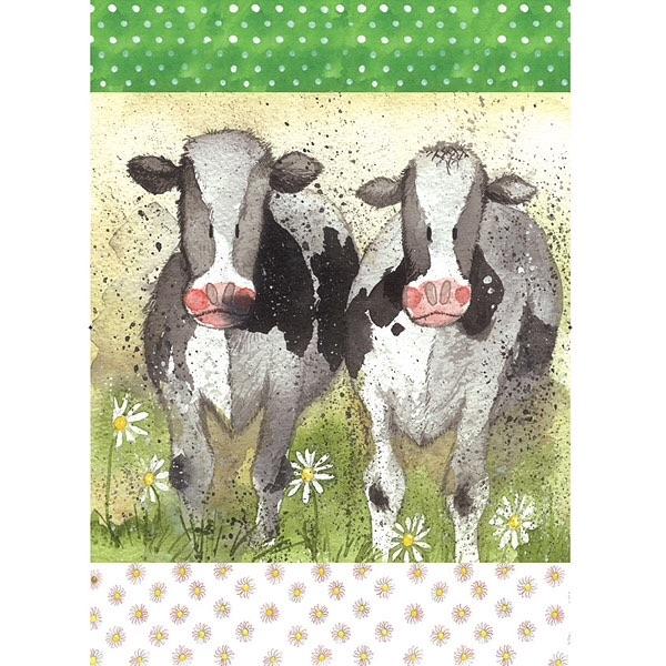 Curious Cows Tea Towel