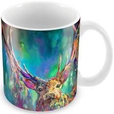 Vibrant Woodland Stag Mug