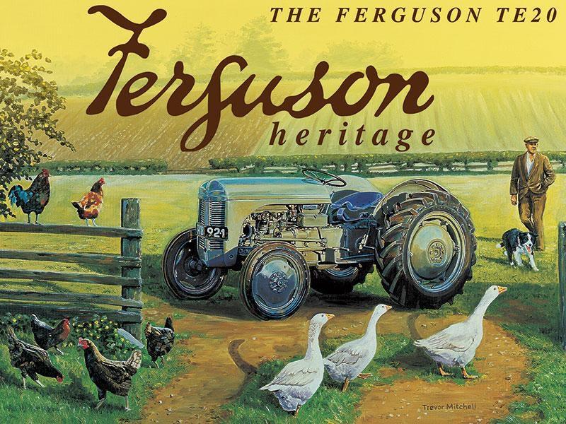British Farmers - Blue Flat Wagon Metal Sign