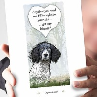 Cupboard Love Black & White Springer Spaniel Card