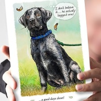 A good days shoot Labrador Card