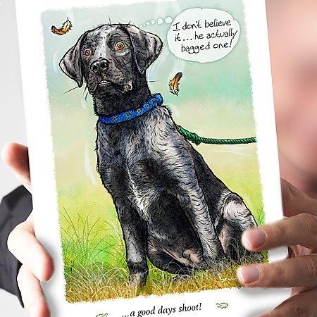 A good days shoot Labrador Card