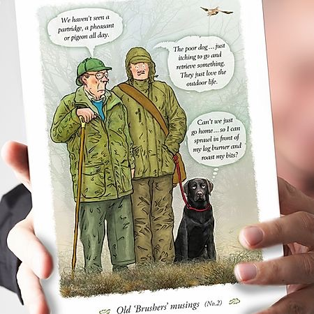 Old 'Brushers' Musings Labrador Card
