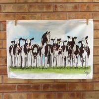 Cow Pony Tea Towel