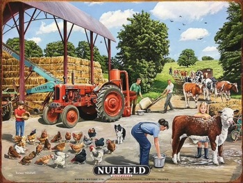 Nuffield Universal Tractor Metal Sign