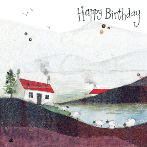 Lochside Sheep Birthday Card