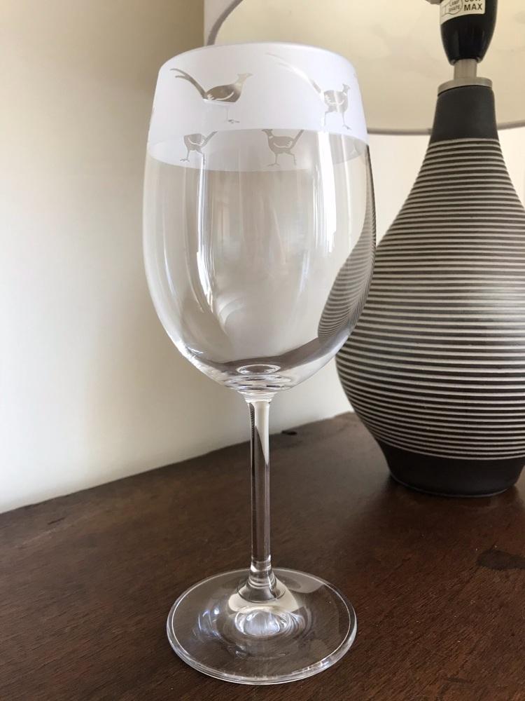 Pheasant Wine Glass