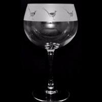 Pheasant Balloon Gin Glass