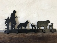 One Man and his Dog 6 Hook Key Rack