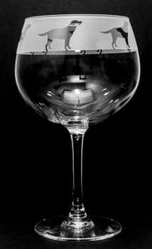 Labrador Balloon Gin Glass