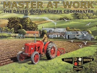 Master at Work David Brown Tractor Metal Sign