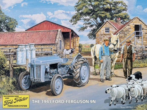 Grey Ford Ferguson  Metal Sign