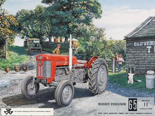Massey Ferguson 65 Tractor Metal Sign