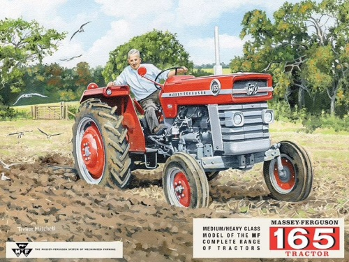 Massey Ferguson 165 Tractor Metal Sign
