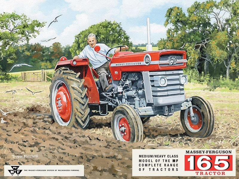 Massey Ferguson 165 Tractor Metal Sign