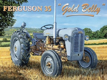 """Ferguson 35 """"Gold Belly"""" Tractor Metal Sign"""