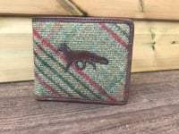 Fox Green Islay Tweed and Brown Leather Wallet