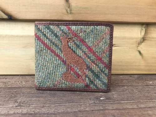 Stag Green Islay Tweed and Brown Leather Wallet