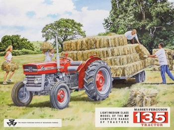Massey Ferguson 135 Tractor Metal Sign